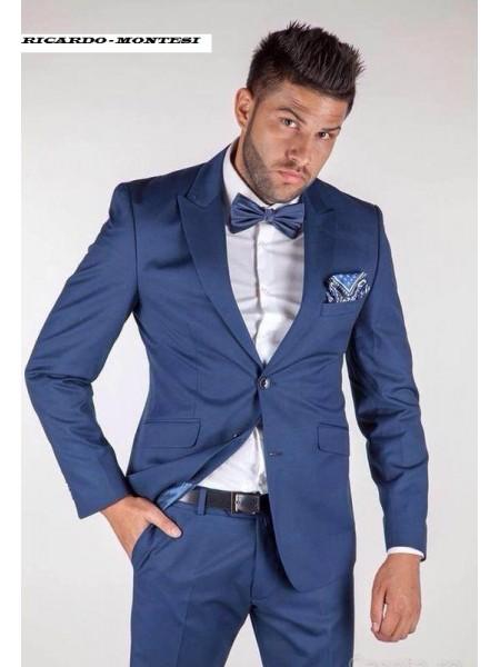 Costum barbati albastru Parlament