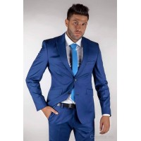 Costum barbati blue electric slim fit