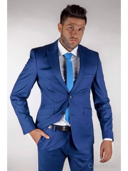 Costum barbati blue electric slim fit