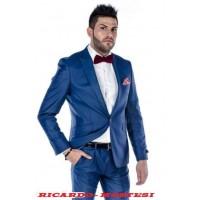 Costum slim fit Albastru Saphire