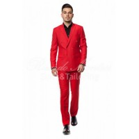 Costum barbati  shiny red