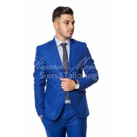 Costum business albastru havai