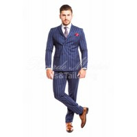 Costum  business casual  cu insertii