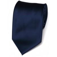 Cravata de matase clasica bleumarin uni