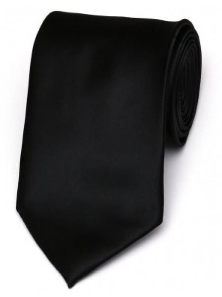 Cravata de matase clasica negru uni