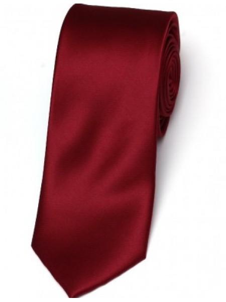 Cravata de matase slim bordeaux