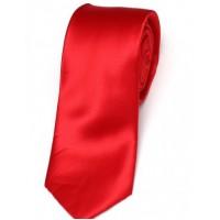 Cravata de matase slim rosu uni