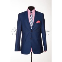 Costum albastru slimfit business