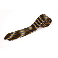 Cravata slim cu insertii alb negru orange