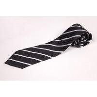 Cravata cu insertii alb negru
