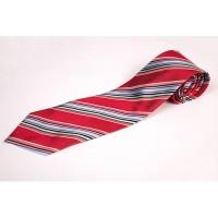 Cravata clasica cu insertii rosu bleu