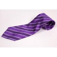 Cravata slim cu insertii alb lila